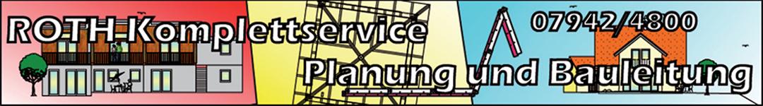 ROTH Komplettservice PLANUNG UND BAULEITUNG Logo